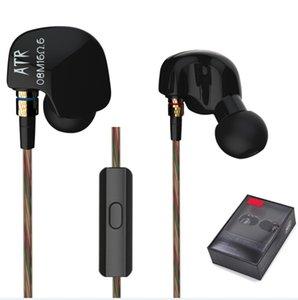 Kablolu Kulaklık iphone Samsung Orijinal KZ ATR Stereo Kulaklık Iptal 3.5mm Kulak Gürültü Kulaklıkları Profesyonel HIFI Süper Bas Kulaklık