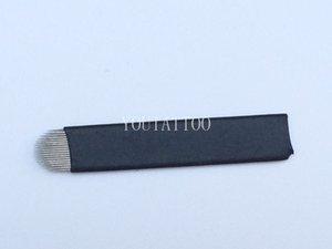 50 UNIDS White U Shape 18 Aguja Microblading Blade Para Maquillaje de Ceja Permanente Manual Tatuaje Pluma Del Bordado