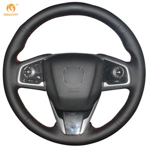 Personalizado Mewant Preto Macio Couro Genuíno Cobertura de Volante para Honda Civic 10 Civic 2016-2019 CRV CR-V 2017-2019 Clareza 2016-2018