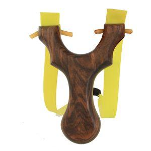 Portátil catapulta de la catapulta con Disparo elástico plano de la goma de la honda de la caza de deportes al aire libre de disparo ébano envío