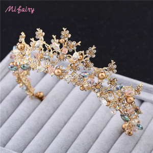 Vintage Baroque Bridal Tiaras Accessories Gold Silver Prom Headwear Stunning Sheer Crystals Wedding Tiaras And Crowns H81