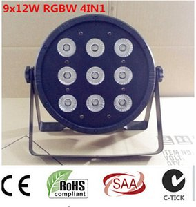 9x12W RGBW 4en1 conduit par DJ Par LED RGBW Wash Disco Light DMX Controller Livraison gratuite
