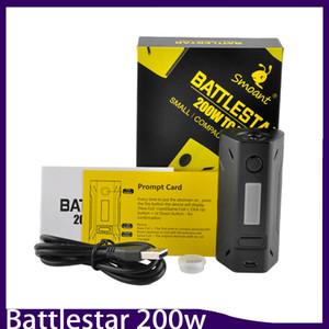 Pürüzsüz Battlestar 200 W Kutusu Mod Yeni Renkler 200 Watt Vape Mod Çift 18650 Pil 510 Konu Bağlayıcı Kompakt Tasarım 0266132-1