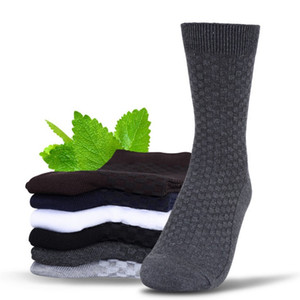 Nuovi calzini in fibra di bambù da uomo di arrivo Colore solido Business da uomo classico Brand Brand Casual Mens Socks Top Quality