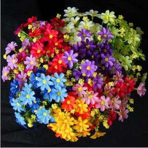Fiori decorativi per la casa all'ingrosso Daisy Wild Chrysanthemum Wedding Fiori decorativi Fiore artificiale falso Party Banchetto forniture sconto