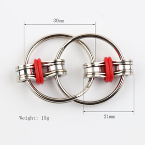 Key Ring Fidget Spinner Gyro Hand Spinner Metal Toy Finger Keyring Chain HandSpinner Toys For Reduce Decompression Anxiety Toy