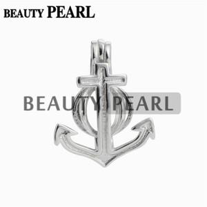 5 Stücke Perle Käfig Anker Anhänger Medaillon Wünschen Perle Geschenk 925 Sterling Silber Schmuck Anhänger Halterungen