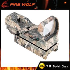 FIRE WOLF Táctica de caza de camuflaje (en riel de 20 mm) Reflex holográfica de 36 mm / 22 mm 4 modos Vista de punto verde rojo