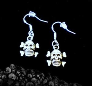 10Pair 뱀파이어 팬츠 티핑 스카프 카마 SKULL 크로스 남자 MERMAID DOVE 925 스털링 실버 드롭 / Dangle 귀걸이 for Women Jewelry M2650