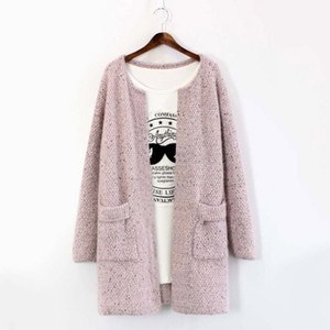 Wholesale- 2016 Winter Autumn Cardigan Women Long Sleeve Sweater Knitted Casual Outwear