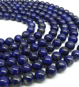 Perles de Lapis Lazuli, perles de Lapis, 8mm 10mm Perles de pierres précieuses en gros, plein brin, trou 1mm