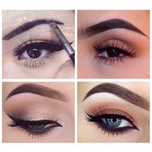 Tarjeta de las mujeres de cejas ceja de la manera plantilla de ojos 24PCS y estética kit de la plantilla que forma la talladora de bricolaje Maquillaje Set de maquillaje Herramientas
