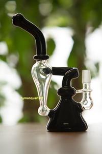 Maschio 14mm bicchiere gorgogliatore Piattaforme petrolifere bong quarzo chiodi Tubi di vetro di tabacco riciclatore riciclare tubi di fumo di vapore bicchiere di vetro percolatore