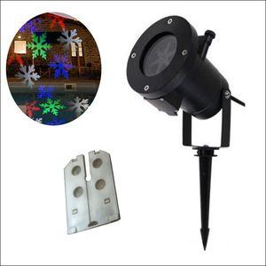 RGBW 12 diseños Auto Mover Diseño colorido Luces navideñas Luces de proyección a prueba de agua al aire libre Iluminación LED