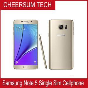 Frei DHL Refurbished Original Samsung Galaxy Note 5 N920P N920T N920V N920A entriegelte Telefon Octa-Core 4GB / 32GB 5.7 Zoll 2560 x 1440