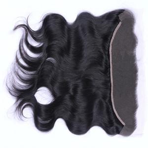 9A brasileño malasio peruano indio 13x4 cuerpo recto ola profunda de encaje de encaje frontal de oreja a oreja frontal de encaje parte media frontal