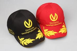 Майкл Шумахер Cap F1 формула гонки мужская шляпа пшеницы вышивка Gorras Snapback Спорт кости открытый черный / красный бейсболка