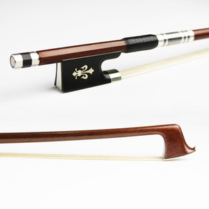 Free Shipping 4 4 Size Pernambuco Violin Bow Round Stick Fast response Exquisite Horsehair Ebony Frog Violin Parts Accessories