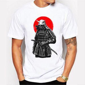 El más nuevo 2017 hombres de moda manga corta Samurai Warrior camiseta Harajuku camisetas divertidas Hipster O-cuello tapas frescas