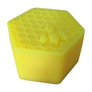 Design unico! 26ml vasetti a forma di esagoni in honeybee Contenitori in silicone per contenitori Contenitore in silicone per olio Si sbriciolano vasetti di silicone per cera Honey Dab