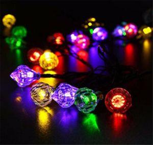 4.8 M Diamond Solar String Lights 20 LED Outdoor Wedding Festival Decorazione lampada impermeabile