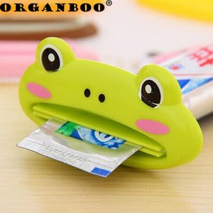 4PCS Cartoon Animal Toothpaste Squeezer Distributeur Dentifrice Bath Toothbrush Holder Tools Squeezing Bathroom Set Accessories