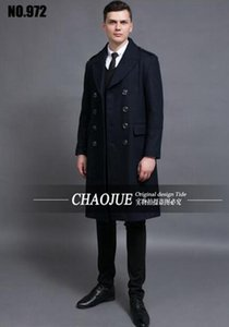 Hombre el período de primavera y otoño y el negocio de edición de moda de gama alta abrigo de lana fina de polvo fino / S-6XL