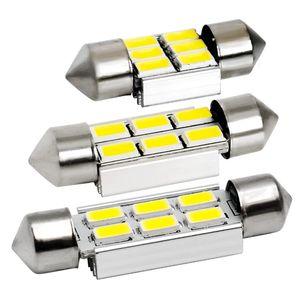 40pcs 31mm 36mm 39mm C5W C10W C3W 6 SMD 5630 5730 LED Festoon CANBUS NO Erreur Voiture Plaque D'immatriculation Lumière Auto Dôme Lampe Ampoule De Lecture