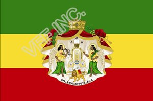 Äthiopien Royal Standard Ensign Flagge Nationalflagge 3 ft x 5 ft Polyester Banner Fliegen 150 * 90cm Kundenspezifische Fahne im Freien