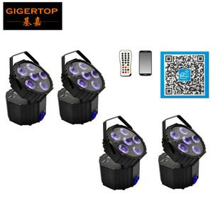 스마트 DJ 배터리 전원 무선 웨딩 Uplight을 uplighting 4 개 단위 6x18W 이벤트 RGBWA UV LED 스크린 디스플레이 조명을 Freeshipping
