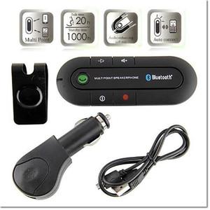 2017 hot wireless car speakerphone speaker аудио музыкальный приемник handfree car mp3-плеер автомобиля беспроводной многоточечный автомобильный комплект с розничной упаковке