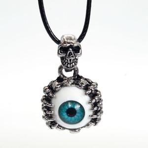 Nouveau Démon Evil Eye Colliers Pendentifs Punk Crâne Pendentif Hommes Personnalisé Collier Vintage Resident Evil Eye Collares