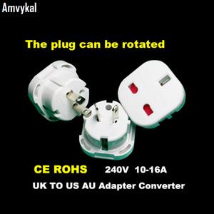 Amvykal Negro Blanco universal del recorrido de alimentación de CA del zócalo del interruptor 9628 Reino Unido Para AU de los EEUU del adaptador de enchufe adaptador de enchufe eléctrico de seguridad del adaptador de enchufe