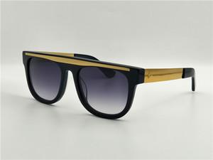 La venta de la nueva manera de CE 00053 patas de metal de oro negro marco cuadrado de lujo francés con marco negro clásico refleja el estilo de la calle