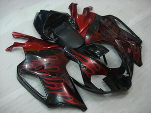 Kits de carénage RSV 1000 05 06 Carrosserie pour Aprilia RSV1000 2005 Kits complets noir rouge RSV1000 03 04 2003 - 2006