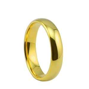 Мода оптом кольца из нержавеющей стали для женщин 6 мм золото серебро обручальное кольцо женский интернет купить оптом дешевые кольца