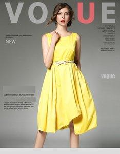 Королева Tailo мода краткое женщина сплошной цвет драпированные рукавов лето Midi платье партии 9396