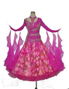 Gesellschaftstanzkleid für Erwachsene Shiny Stage Standard Waltz Modern Dancing Wear Flamenco Gesellschaftstanzkleid