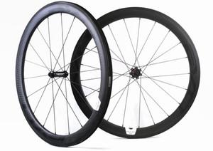 EVO! 700C 50мм глубина 25мм ширина карбоновые колеса дорожный велосипед клинчер / трубчатый карбоновый комплект колес U-образный обод супер легкие колеса