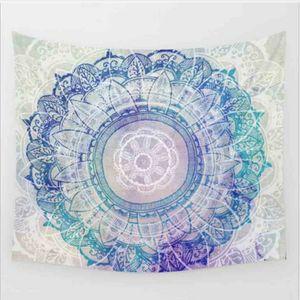 Hountile Petal Tapestry Floral Mandala stampato in stoffa Boho India Wall Hanging Arazzi 130cmx150cm belgio per la casa