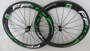 Powerway R36 hub FFWD hızlı ileri F6R karbon bisiklet tekerlekleri 60mm bazalt fren yüzey kattığı tübüler yol bisikleti tekerlek genişliği 25mm yeşil