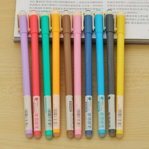 Atacado-10pcs Venda quente Multicolor Erasable Pen Unisex Caneta Apagável 10 Cores Gel Canetas Papelaria Escritório Material Escolar Estudantes Presentes