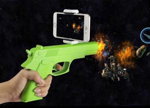 MOQ50pcs Hot AR-GUN VR Jeu de réalité augmentée Jeux de tir avec APP Téléphones intelligents Contrôle Bluetooth Pistolet-jouet avec Retail Box DHL Gratuit