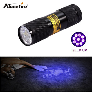 AloneFire 9 LED UV Light 395-400nm LED UV Linterna UV Detector de fugas