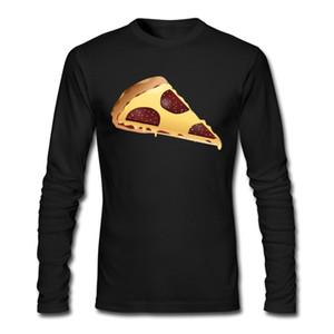 El más nuevo otoño invierno camisa pizza modelado camisa especial manga larga cuello redondo camiseta para hombre