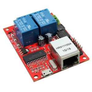 Kit eletrônico Placa de Circuito LAN Ethernet 2-way Placa de Relé Interruptor de Atraso TCP / UDP Módulo Controlador WEB placa do servidor 70mmX 50mm