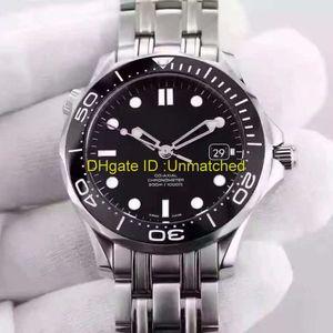 Роскошные часы высокого качества Профессиональные 300 Джеймс Бонд 007 черный циферблат автоматические механические движения Часы наручные мужские часы из нержавеющей стали
