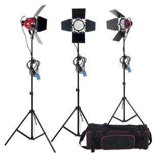고품질 조 광 기 스위치 3pcs 800W 스튜디오 비디오 빨간색 머리 조명 키트 + 전구 + 캐리 가방 사진 장비 무료 배송
