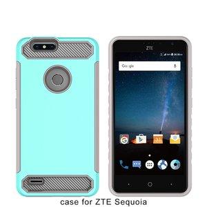 Custodia rigida in robusto telefono con armatura in fibra di carbonio per ZTE Blade Z Max Z982 per ZTE Avid 4 MetroPCS Tempo X N9137 A