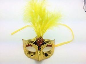 Hot LED luz máscara mascarada de penas de natal máscara feminina brinquedos infantis por atacado